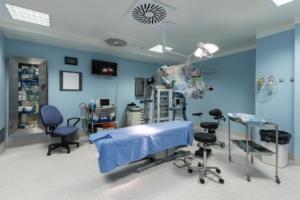 Sala para cirugía en la Clinica Nivaria